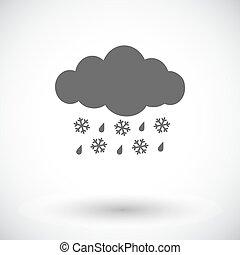 neige fondue, icône