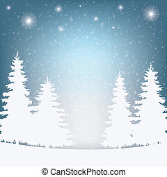 neige, hiver, fond