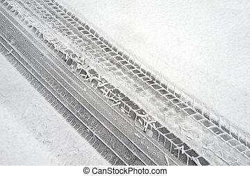 neige, hiver, pneu, marques
