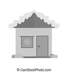 neige, maison