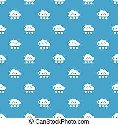 neige, modèle, vecteur, seamless, bleu