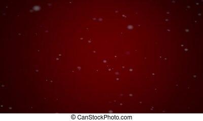 neige, noël, fond, rouges