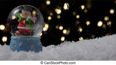 neige, noël, globe