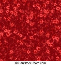 neige, rouges