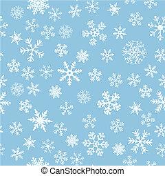 neige, seamless, bleu leger, vecteur, fond