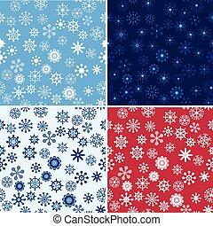 neige, seamless, vecteur, fond, ensemble