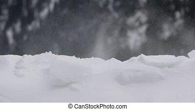 neige, tempête neige, dériver
