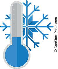 neige, thermomètre