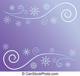 neige, vent