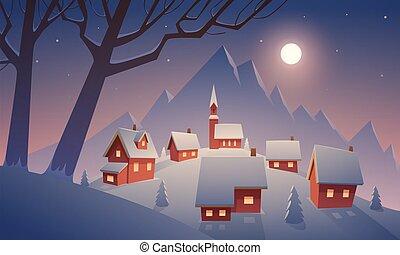 neige, village