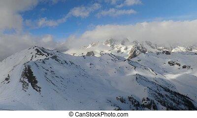 neigeux, alpes, montagnes