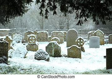 neigeux, cimetière