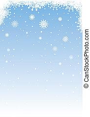neigeux, fond
