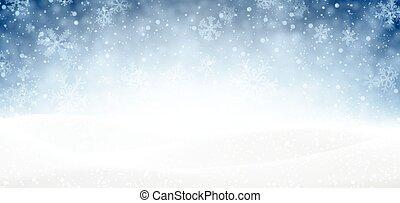 neigeux, noël, banner.