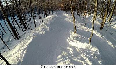 neigeux, ski, homme, 4k, secteur