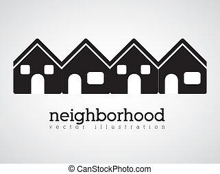 Neighborhood design over white background vector...