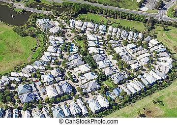 Neighborhood from air