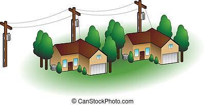 Neighborhood Homes - Neighborhood homes isolated on a white ...