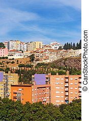 Neighborhood in the center of Lisbon city.