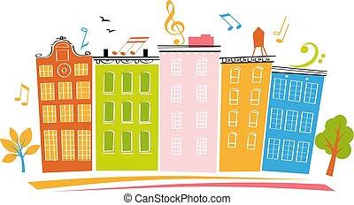 Neighborhood party banner