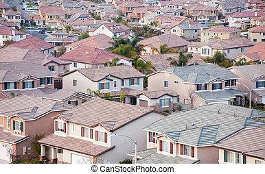 Neighborhood Roof Tops View