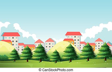 Neighborhood - Scene of neighborhood at daytime