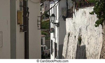 Neighborhood Street And Houses In European Town