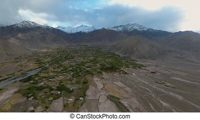Neighborhood With Surrounding Mountains - Drone, exterior,...