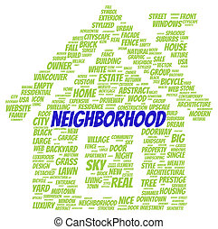 Neighborhood word cloud shape