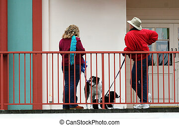 Neighbors - Dog lovers talking