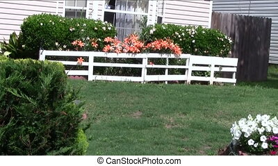 Neighbor's Front yard  - Front yard filled with flowers