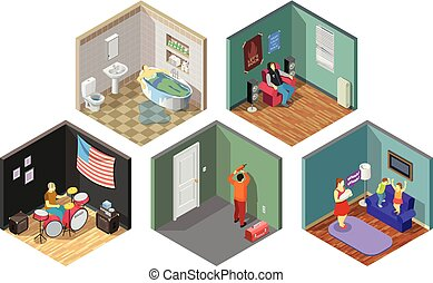 Neighbors Relations Isometric Compositions Set