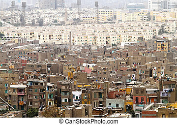 Neighbourhood Cairo - Aerial view of buildings in Cairo...