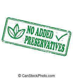 nein, hinzugefügt, briefmarke, konservierungsmittel