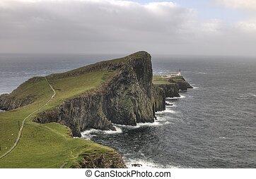 Neist Point lighthouse in Isle of Skye, Scotland