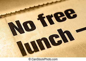 nej, gratis, lunch