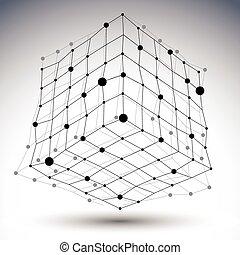 nejasný, digitální, cíl, vektor, čerň, eps8, prostorový, ...