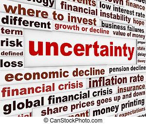 nejistota, finanční machinace, design