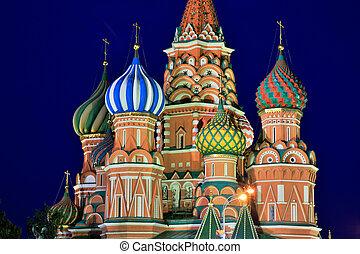 nelkenbasilie, heilige, russland, kathedrale, moskauer