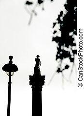 nelson, skwer, główny, kolumna, londyn, trafalgar