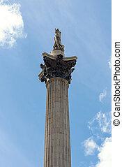 Nelsons Column at Trafalgar Square in London