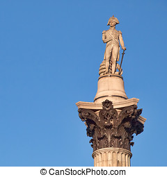 Nelson's column in Trafalgar square, London
