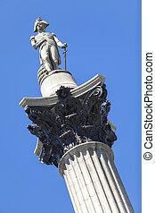 Nelson's Column, Trafalgar Square, London, England