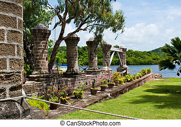 Nelson's Dockyard, cultural heritage site and marina in English Harbour, Antigua (Caribbean)