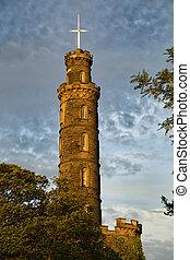Nelson's monument in Edinburgh - Nelson's monument at...