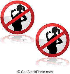 nem, iszik, helyett, terhes women