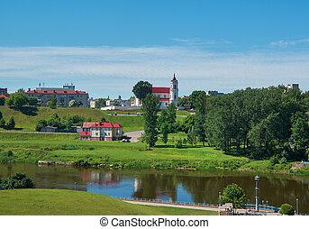 Neman river. Grodno, Belarus
