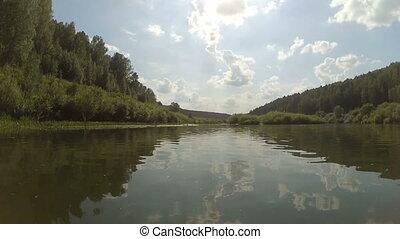 nemda, rivière, couler