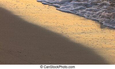 nemes, tengerpart, homokos, lenget