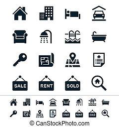 nemovitost, ikona